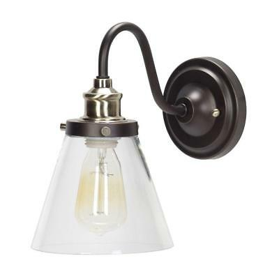 Globe Electric Jackson 1-Light Oil Rubbed Bronze and Antique Brass Wall Sconce L