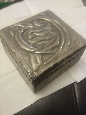 Art nouveau metal covered box