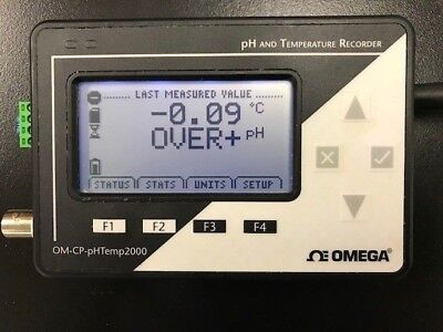 Omega OM-CP-PHTEMP2000 PH and Temperature Recorder w/ Software