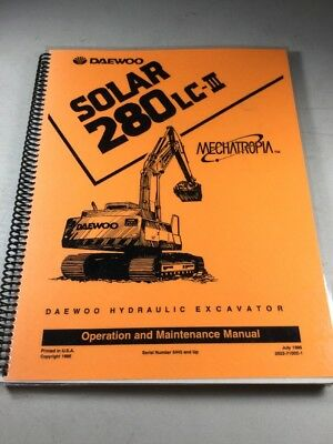 DAEWOO SOLAR 280LC-III Excavator Operation And Maintenance Manual on