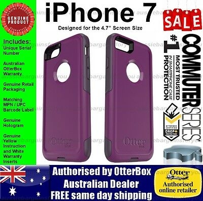 OtterBox iPhone 7 8 Commuter Genuine Purple Case Tough Strong Slim Shockproof
