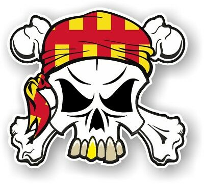 Skull & Crossbones + HEAD Bandana Northumberland County Flag vinyl car sticker
