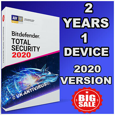 Bitdefender Total Security 2019 / 2020 - 2 Years Activation - 1 Device Download