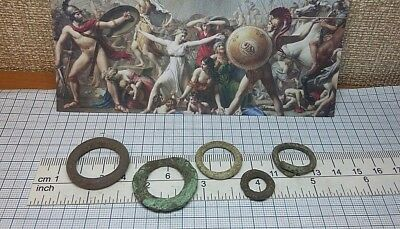 5 pcs.Perfect Ancient Celtic Bronze Ring Proto Money 600-400BC Old Pre-Coin #241