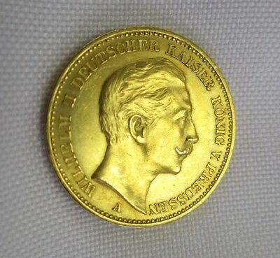 20 Mark 900 Gold Coin Wilhelm II King of Prussia 1889 A