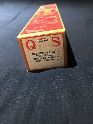 Vintage Player Piano Test Roll QRS 82 Note Very Good
