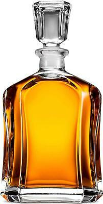 Capitol Glass Decanter with Airtight Geometric Stopper - Whiskey Decanter