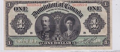 1911 Dominion of Canada 1 One Dollar Bank Note