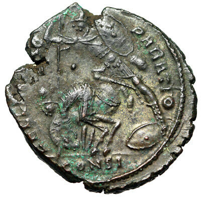 "WAR TYPE Large 23mm Roman Coin Constantius II ""Equestrian Battle Scene"" QUALITY"