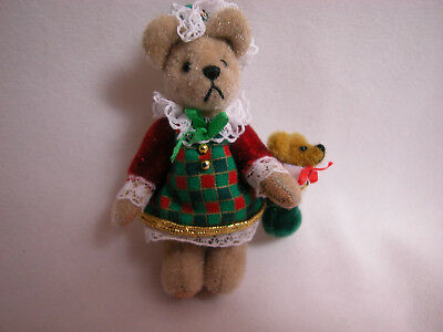 "World Of Miniature Bears Dollhouse Miniature 3.25/"" Plush Bear Battle Scars #761"
