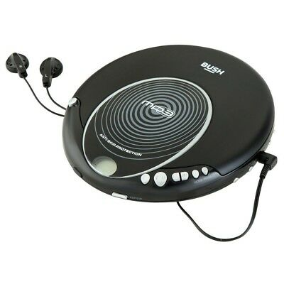 Bush Jog Proof Anti-Skip CD Player with MP3 Playback(2 x AA Batteries included)