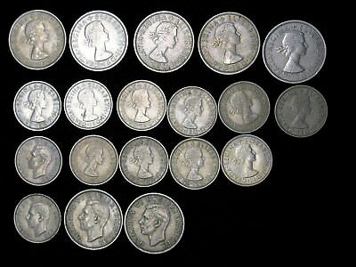 Lot of 19 Great Britain 1 & 2 Shillings 1948-1967