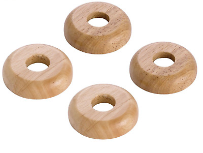 REAL OAK Wood 15mm Radiator Pipe Collars Wooden Floor Cover Rose Rings NEW