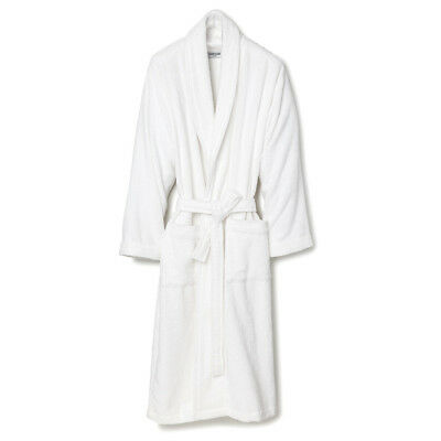 NEW Classic White Cotton Terry Bathrobe - One Size Fits Most