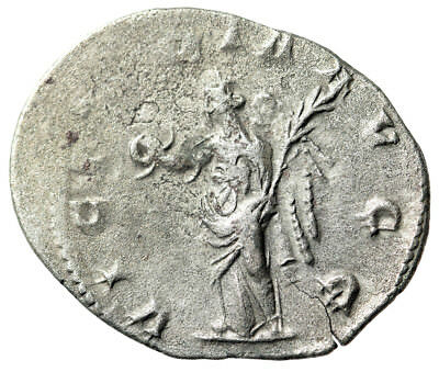 SCARCE & HIGH QUALITY Viminacium Mint Silver Antoninianus of Valerian I Victory