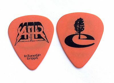 All American Rejects Mike Kennerty Earth Tree Orange Guitar Pick  - 2009 Tour