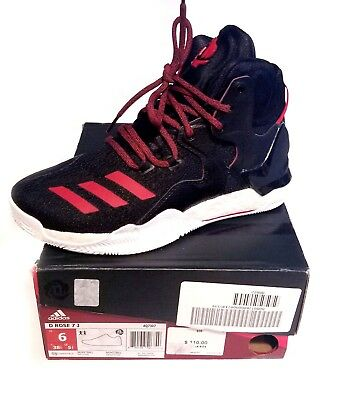 469cfb337ddb Adidas D Rose 7 Boy s Basketball Shoe Authentic Size 6 Black scarlet Red
