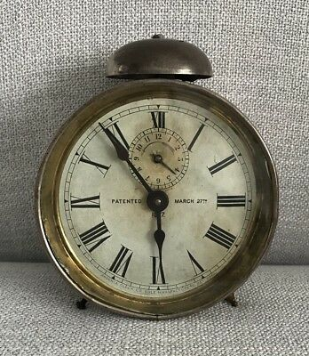 Rare Antique 1877 Ansonia Alarm Clock - Patented March 27th - New York