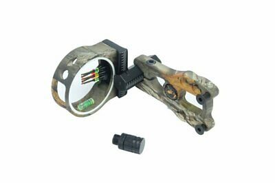 NEW CAMO FIBRE OPTIC BOW SIGHT FOR COMPOUND BOW w/ LED LIGHT HUNTING ARCHERY