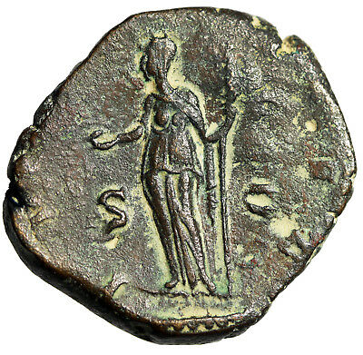 "LARGE & SCARCE 27mm Sestertius of Empress Salonina ""Juno"" 254-268AD HIGH QUALITY"