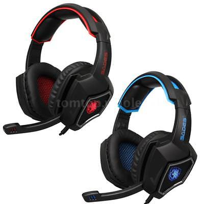 SADES R9 PC Gaming Headset Stereo Music Headphone with MIC Over Ear for PS4 XBOX