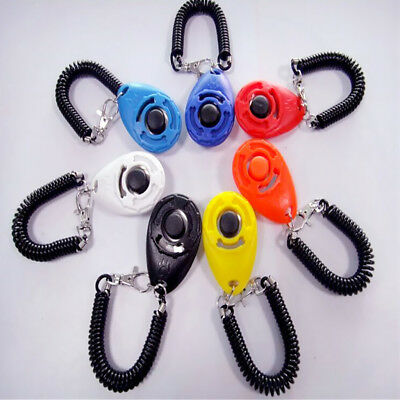 Practical Pets Dogs Cats Training Clickers Big Button Click with Wrist Bands