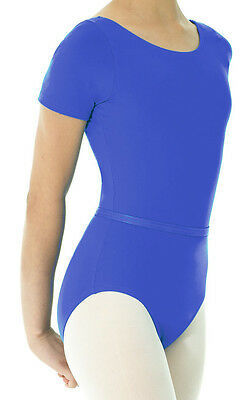 Ballet Leotard Short Sleeve Royal Academy of Dance in Royal Blue Size 6X-7, 8-10