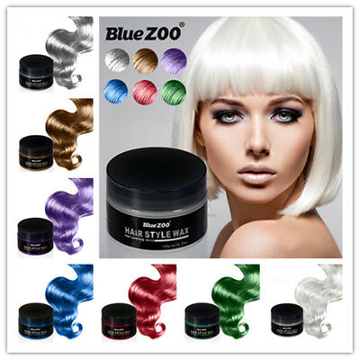 7 Colors Hair Color Pomades DIY Wax Mud Dye Styling Cream Disposable