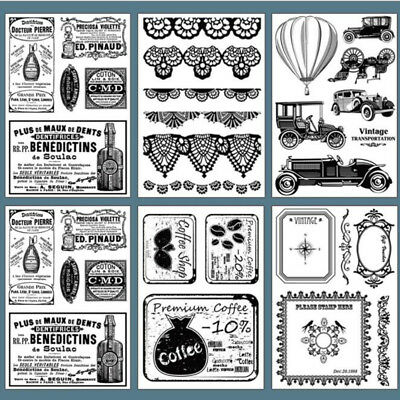 NEW Style Transparent Silicone Clear Rubber Stamp Sheet Cling DIY Scrapbooking