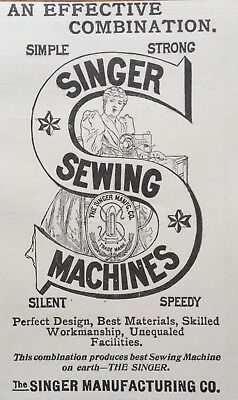 1897 Ad (1800-20)~The Singer Mfg. Co. Sewing Machines
