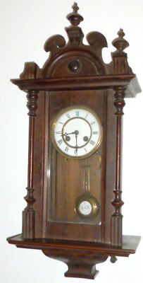 Antique Art Nouveau Wall Clock Gründerzeit Era Regulator Watch Wooden