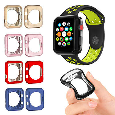 official photos 6a38c b2ba5 FOR APPLE WATCH Series3/2/1 Bumper iWatch Screen Protector Case Cover  38/42mm mk