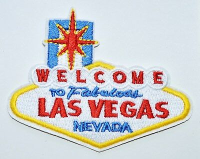 100x Welcome to Fabulous Las Vegas Embroidered Iron on or sew on Patch Applique