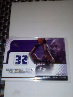 Karl Malone Jersey Card Ex Behind The Numbers 01-02