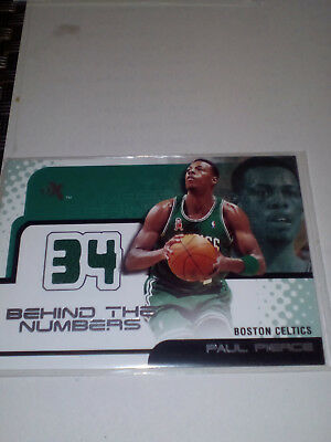 Paul Pierce Jersey Card Ex Behind The Numbers 01-02