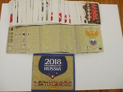 Panini Fifa World Cup 2018 Stickers - Qtys 0F 10, 20, 30, 40, 50, Loose Stickers
