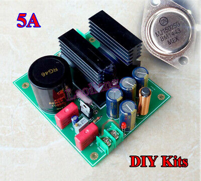 5A MJL15025 Linear High Current Regulated Power Supply Board DIY Kits Low Noise