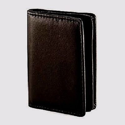 Samsonite Black Soft Leather Business Card & ID and Credit Card Holder Wallet