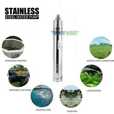 DC 24V Brushless Solar Deep Well Submersible Water Pump 200W,Stainless Steel