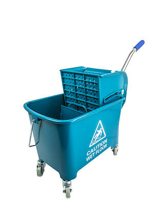 Compact Mini Mop Bucket Side Press Wringer GREEN 17QT/[190891G_BAI]