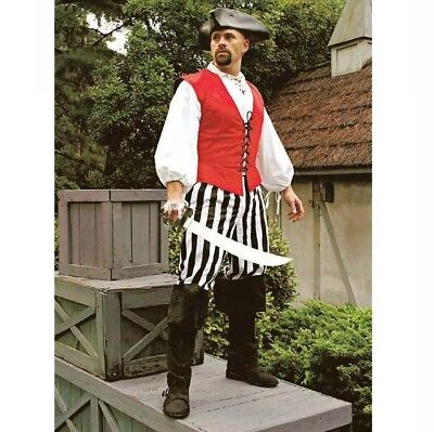 Black & White Stripe Pirate Pants Perfect For Re-enactment Stage LARP & Costume