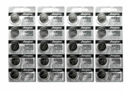 Energizer ECR1632 Lithium 3V Battery - 20 Pieces