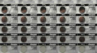 Energizer ECR1632 Lithium 3V Battery - 25 Pieces