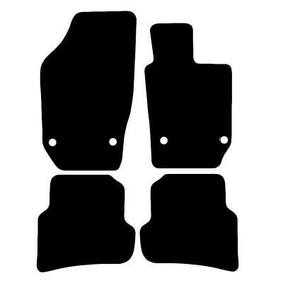 Tailored Black Car Floor Mats Carpets 4pc Set with Clips for Seat Ibiza