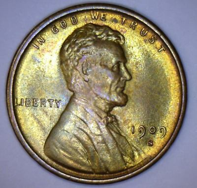 ~☆1909-S VDB☆~ Lincoln Wheat Penny Beautiful reverse colors PCGS ms qualities