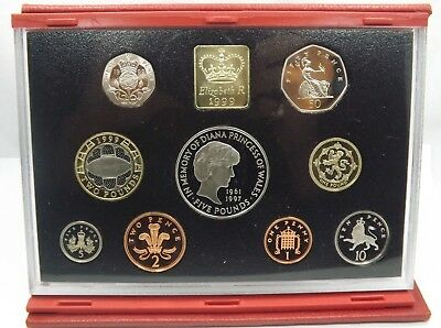 Royal Mint - 1999 United Kingdom Deluxe Proof Coin Set  (T1063)