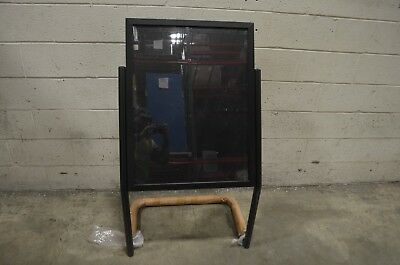 """Aarco P-15BK Black 25"""" x 48"""" Double Pedestal Poster Stand"""