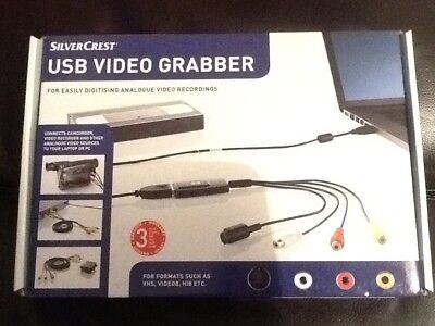 SilverCrest USB Video Grabber For Digitising Analogue Video Recording NEW BOXED