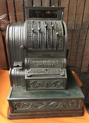 Kasse, Registrierkasse, antik, Anker, national cash, vintage, cash register