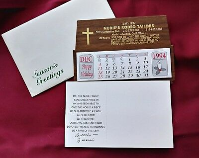 Promotional Christmas desk Calendar from Nudie's Rodeo Tailors 1995 Signed!